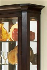 Crown Molding in Buffet Hutch