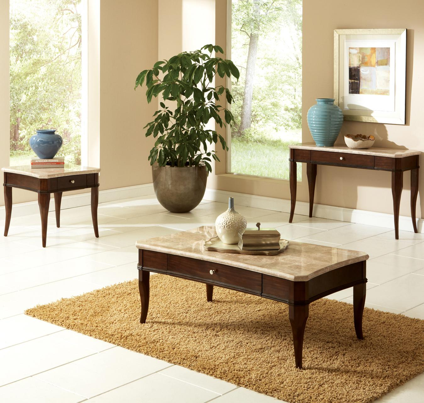 Steve Silver Marseille Transitional Rectangular Marble Top Dining Table    Wayside Furniture   Dining Room Table
