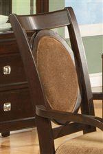 Elegant Upholstered Oval Backs