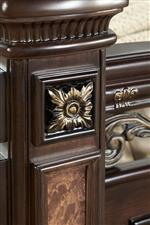 Morris Home Monte Carlo Traditional 9 Drawer Dresser and Arched Mirror Combo
