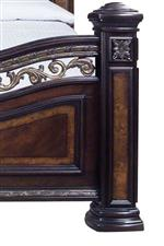 Morris Home Monte Carlo Traditional King Bed with Metal and Gold Accents