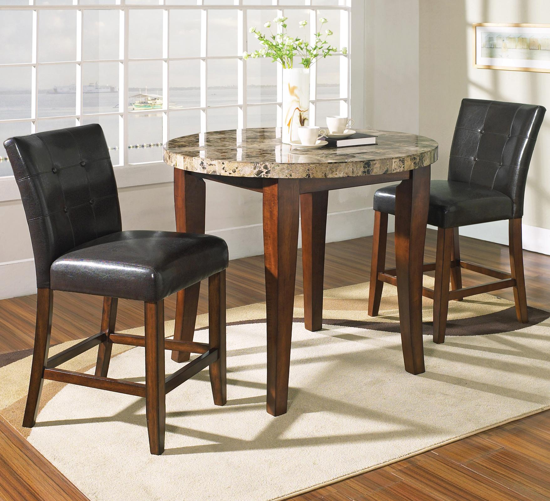 Steve Silver Montibello 3 Piece Counter Height Round Table and