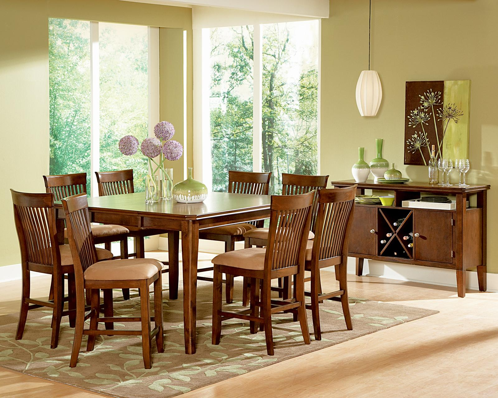 Steve Silver Montreal Transitional Rectangular Dining Table With 18 Leaf