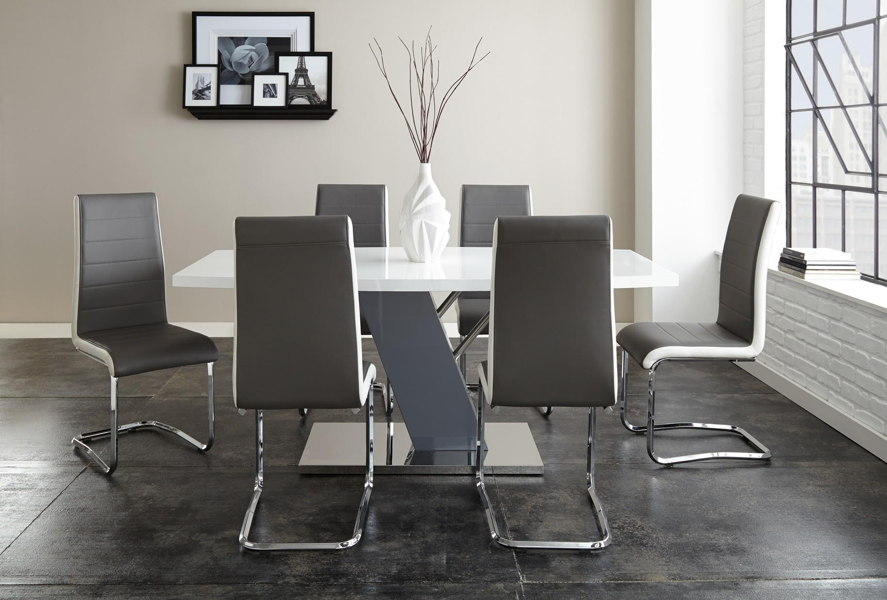 White And Silver Dining Chairs | Zef Jam