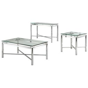 Vendor 3985 Nova Glass Top End Table