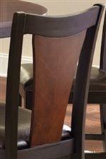 Two Tone Brown/Black Splatback Chair
