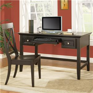 Morris Home Furnishings Oslo Transitional X-Back Desk Side Chair