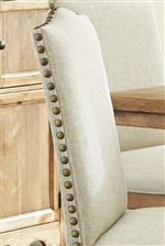 White Upholstery with Nailhead Trim
