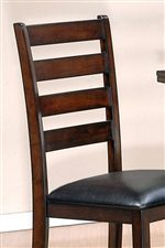 Ladder Back Chairs with Faux Leather Seats