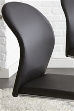 Black Faux Leather Upholstery