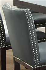 Bonded Leather with Nailhead Trim