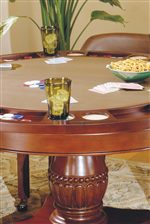Game Table with Cup Holder, Money Holders and Chip Holders.