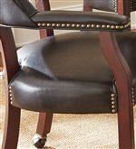 Decorative Brass Nail Head Trim on Arm Chair