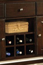 Built-in Wine Storage Rack
