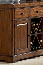 Includes Convenient Storage Space for Dining Accessories & Spirits