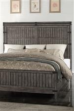 Wood Panel Bed Headboard