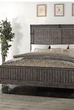 Wood Panel Bed Footboard