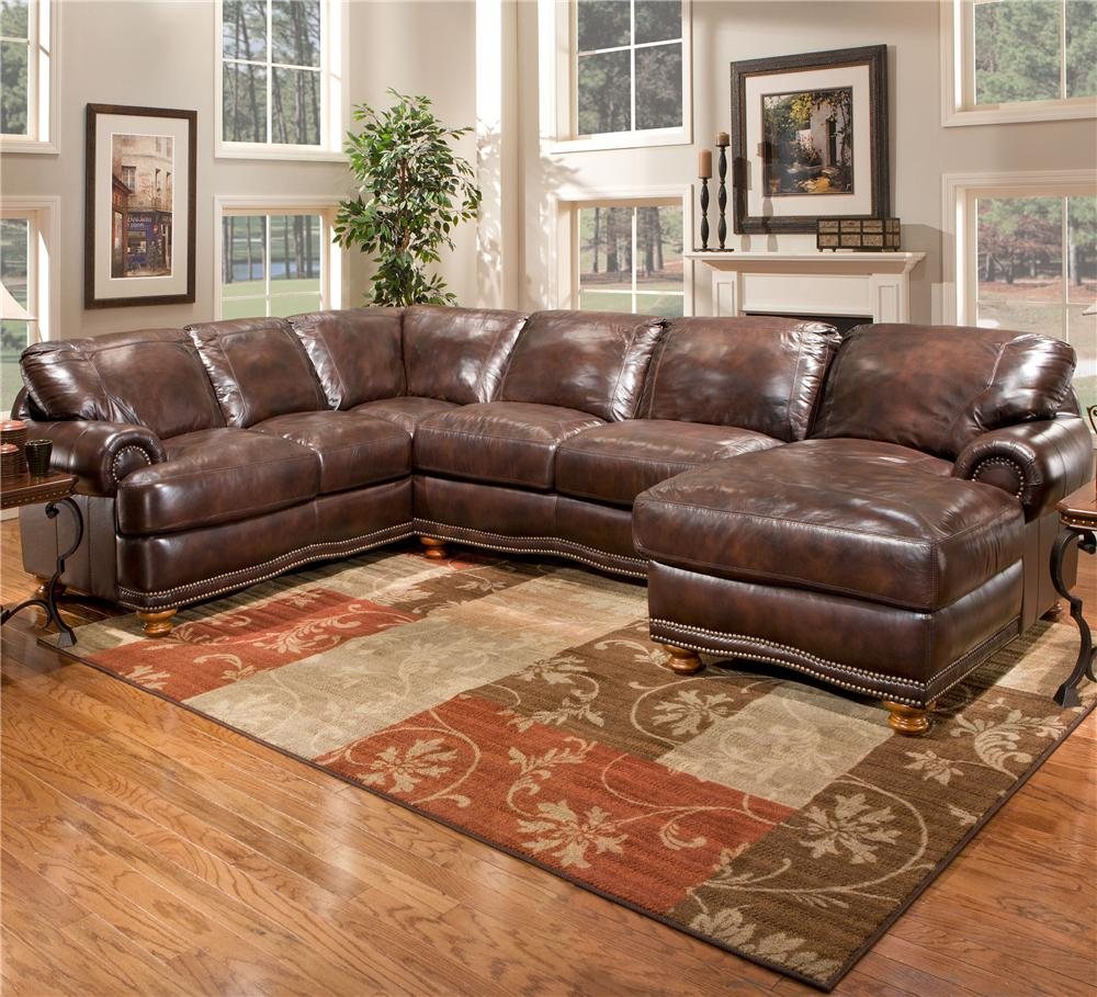 Olympus Leather Sectional Sofa Group