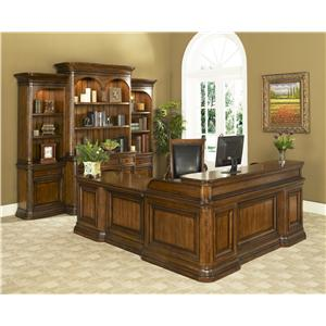 Office Solutions Winsome Home Office Traditional Double Pedestal Desk U0026  Return