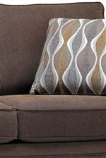 Plush Upholstered Seat and Back Cushions Create a Comfortable Feel of Casual Relaxation
