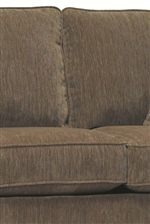 Plush Upholstered, Box Style Seat Cushions and Pillowed Backs Provide Comfortable Support for Seated Relaxation