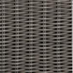 Hand-Woven Wicker Resin with Slate Gray Finish