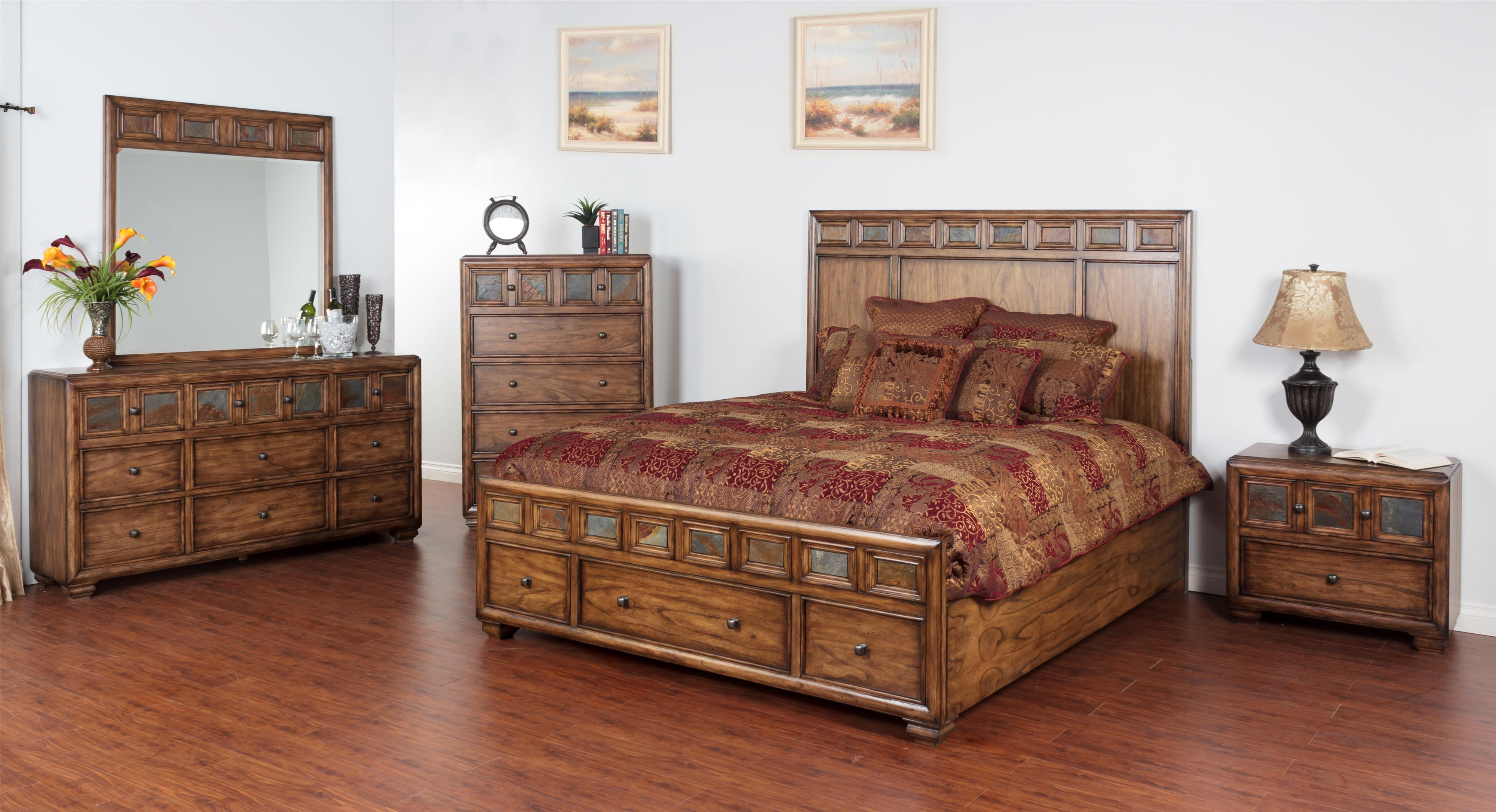 Sunny Designs Coventry Queen Bedroom Group - Item Number: BM Q Bedroom Group 1