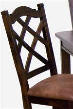 Double Crossback Chairs and Stools