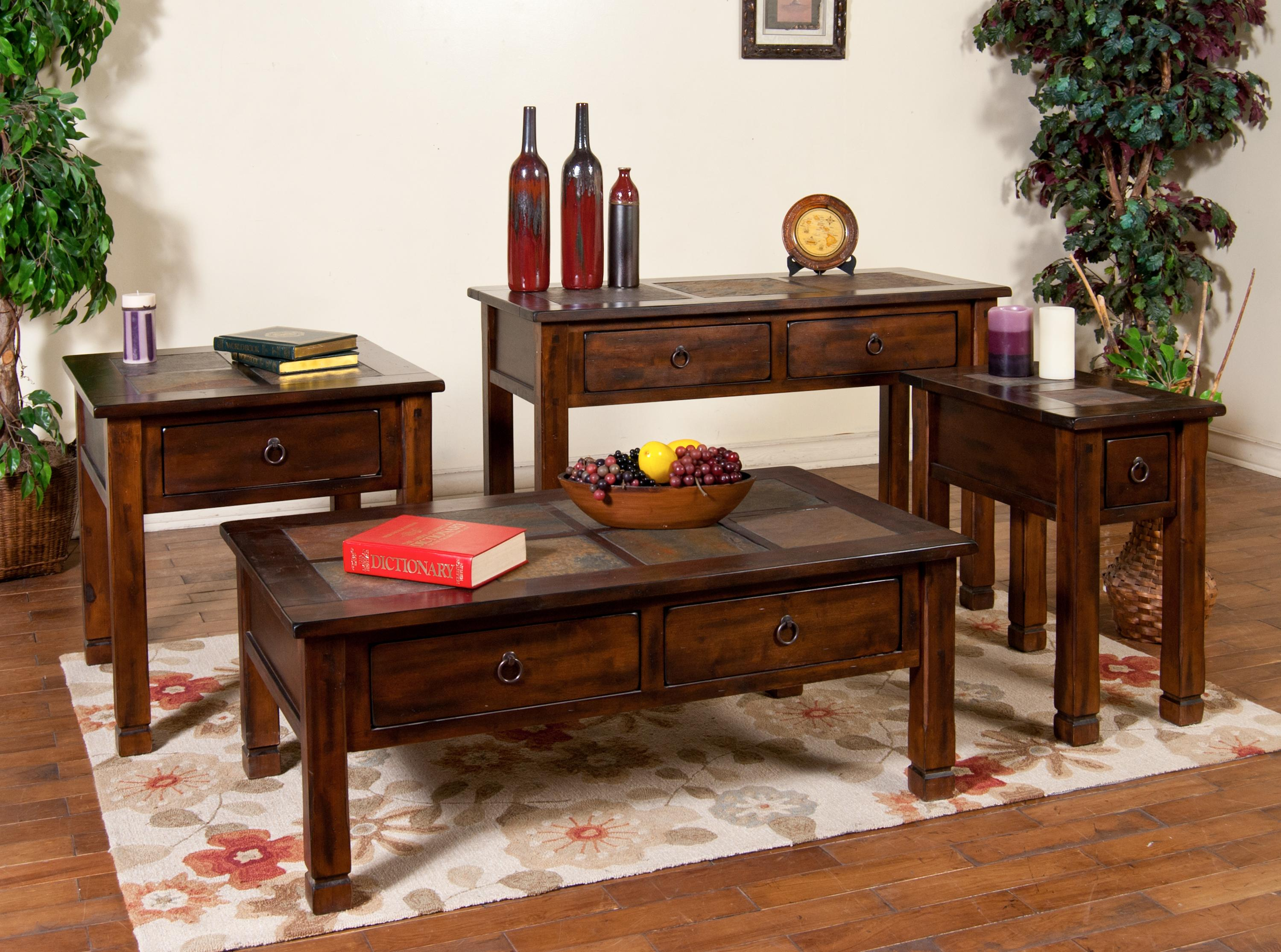 Sunny Designs Santa Fe Traditional 2 Drawer Coffee Table   Wayside Furniture    Cocktail/Coffee Tables