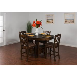 Sunny Designs Savannah 3-Piece Drop Leaf Table Set