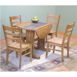 Sunny Designs Sedona Rustic Oak Table Top and Base