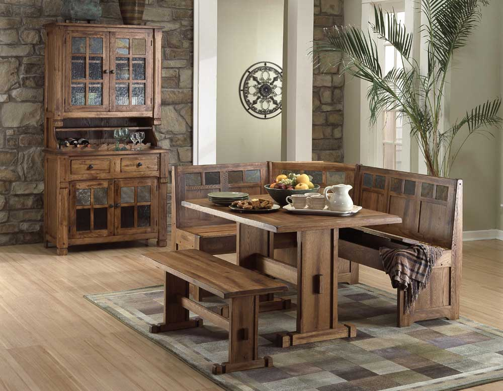 Sunny Designs Sedona End Table W/ Drawer And Slate Top   Wayside Furniture    End Tables