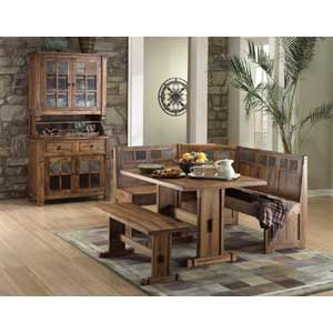 Sunny Designs Sedona 5-Piece Extension Table w/ Slate & Chair Set