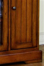 Panel Cabinet Door with Straight Bracket Feet
