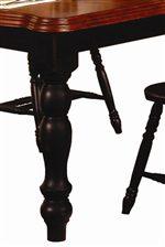 Elegant Turned Legs and Smooth Beveled Table Edges