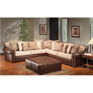 The Rose Hill Company 1973 Two-Tone Sectional Sofa  sc 1 st  BigFurnitureWebsite : two tone sectional - Sectionals, Sofas & Couches