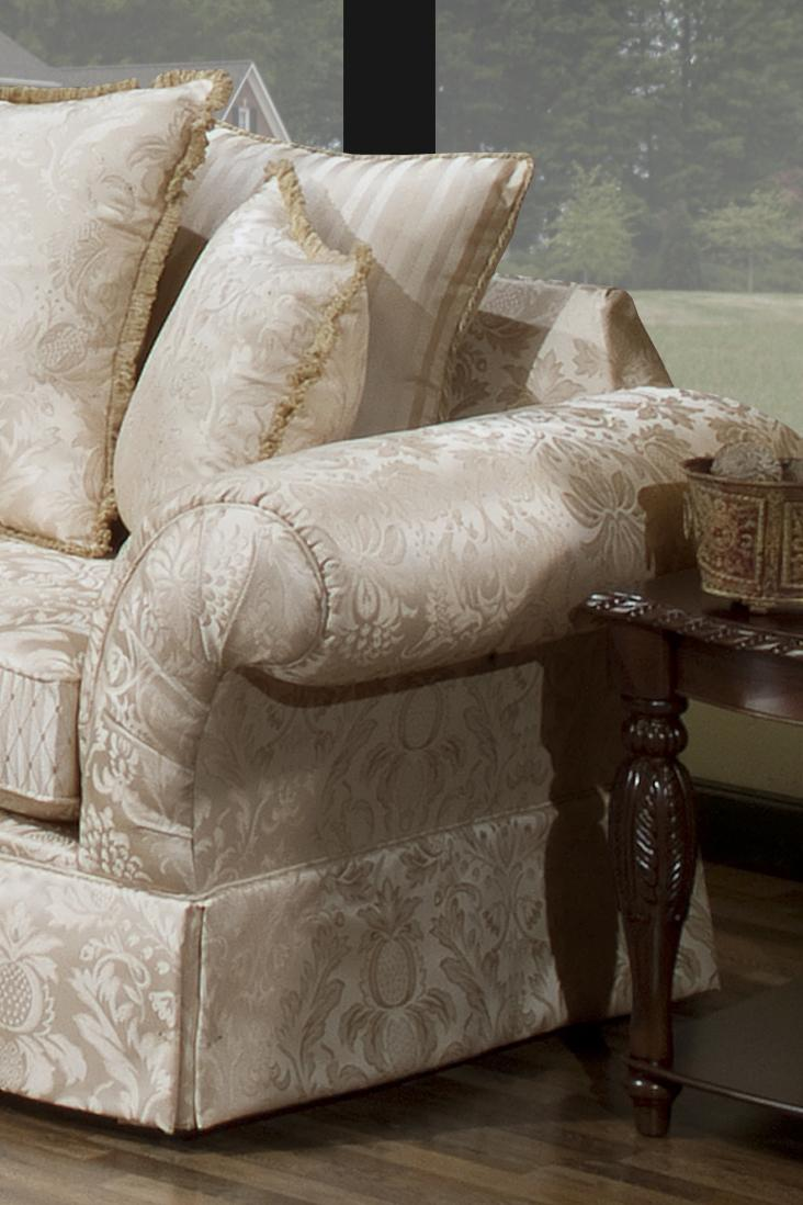 The Rose Hill Company 2840 Traditional Arline Ivory Loveseat    BigFurnitureWebsite   Love Seat