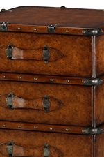 Leather Wrapped Luggage-Style Chest