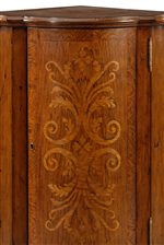 Floral Inlaid Corner Cabinet Door