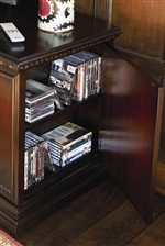 Concealed Storage in Media Console