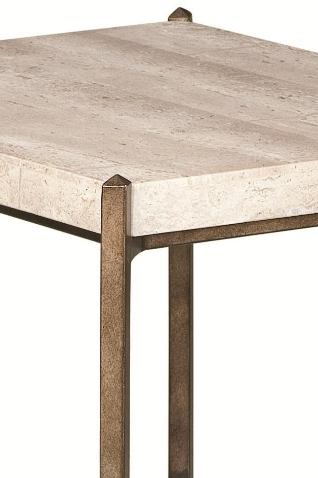 Thomasville® Cachet End Table W/ Travertine Stone Top   Sprintz Furniture   End  Table Nashville, Franklin, And Greater Tennessee