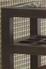 Grated Middle Shelf and Beveled Glass Insert Top
