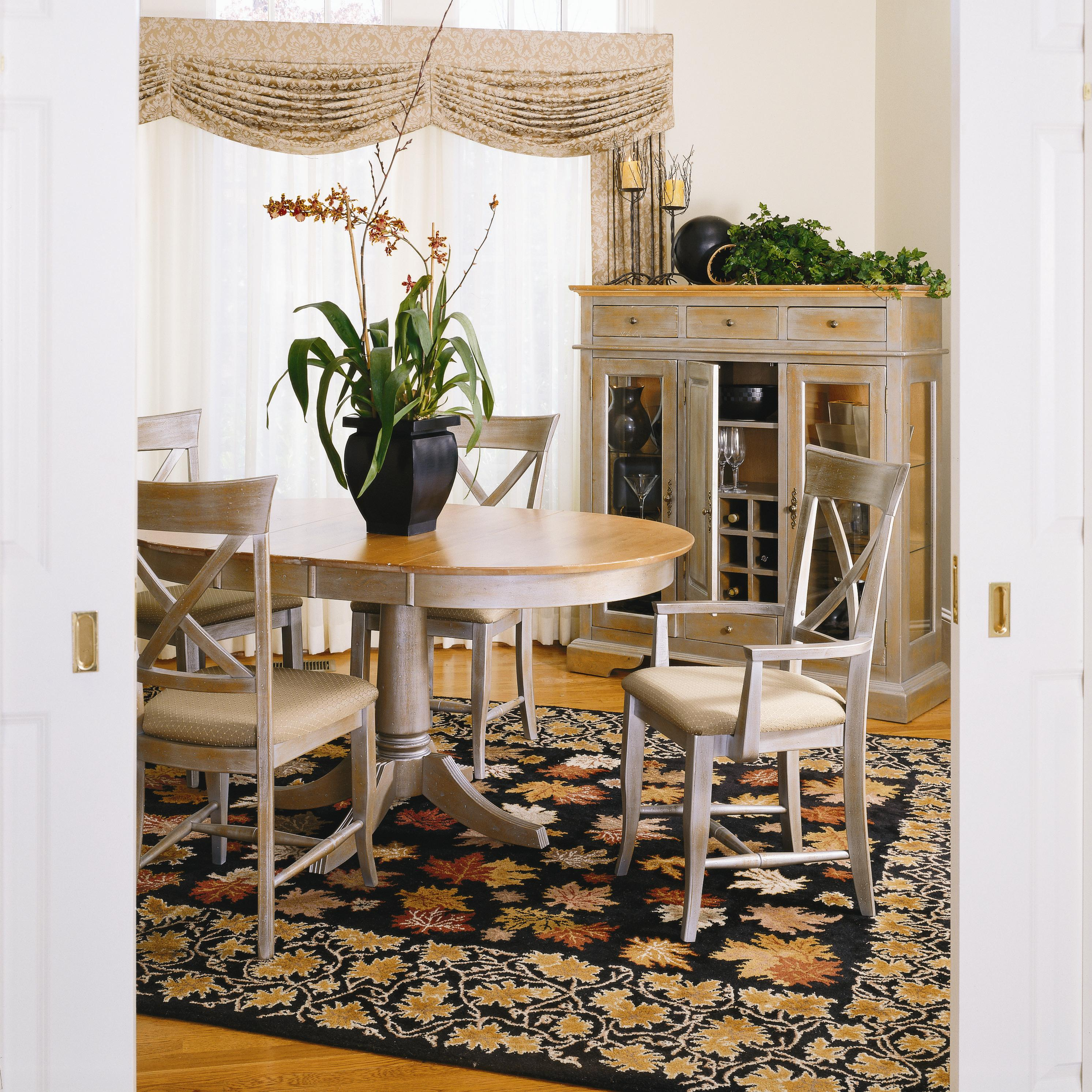 Thomasville color café custom dining customizable round dining table louis mohana furniture dining room table
