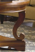 Ogee Moldings with Compass Rose Inlays and Elegant Perimeter Framing