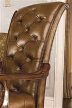Brown Tufted Leather Upholstery