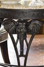 Elephant Motif Crafted into Side Table