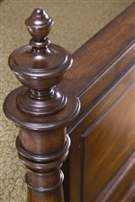 Classic Turned Finials add Charming Beauty