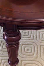 Turning and Fluting Detail Compliments the Mahogany Veneers