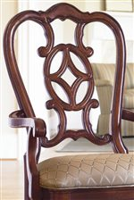 Graceful Pierced Seat Back Design Offers Traditional Elegance