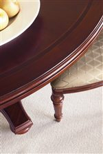 Rosewood Banding and Softened Edges Accentuate Mahogany Veneered Case Tops